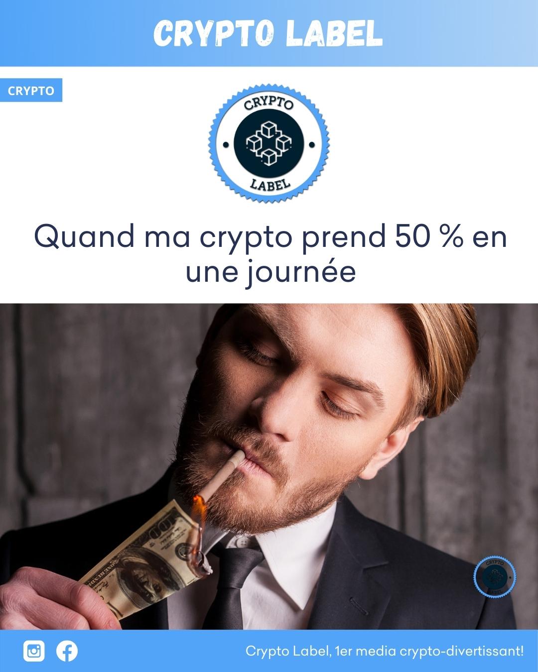 MEME augmente-50%-crypto-label