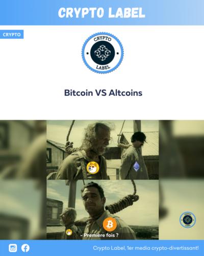 Bitcoin VS Altcoins -crypto-label
