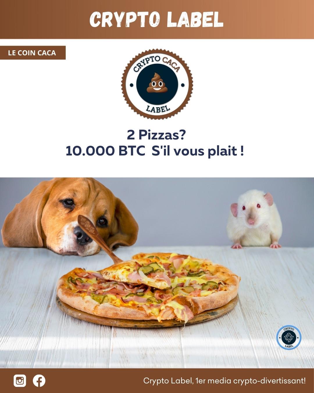 Le coin caca PIZZA -crypto-label
