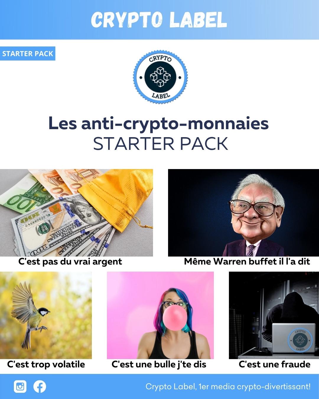 Les anti-crypto-monnaies- STARTER PACK Crypto Label