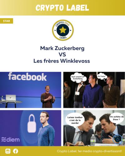 Mark Zuckerberg VS Les frères Winklevoss - Stars label - Crypto Label