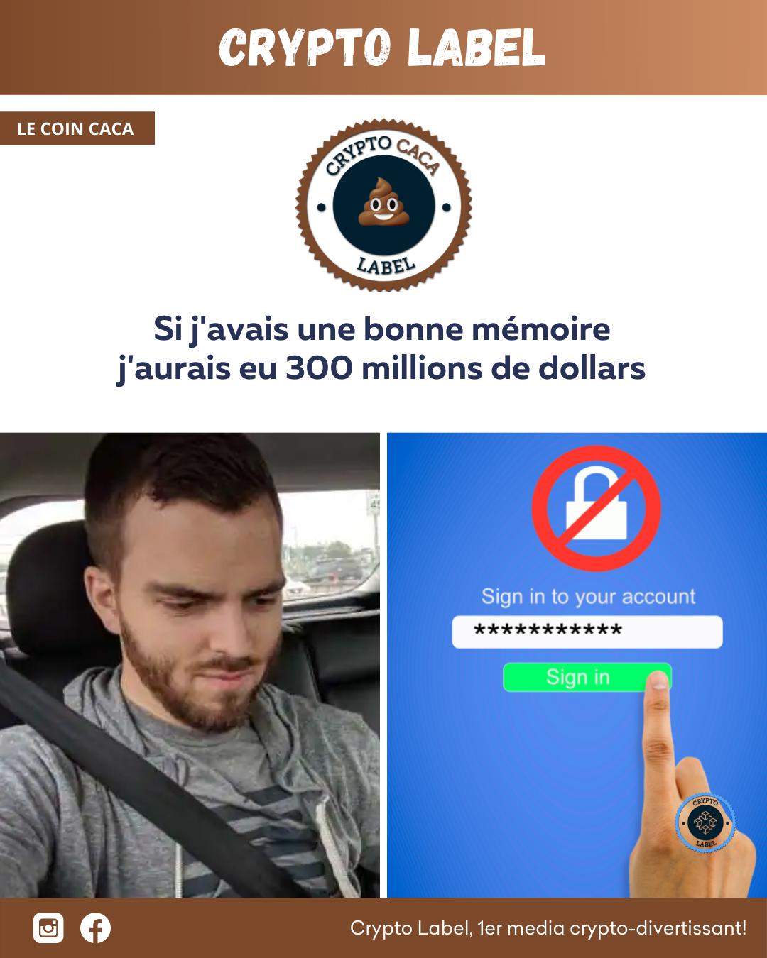 Un code à plus de 300 millions de Dollars Stefan Thomas - Le coin caca 💩 crypto-label