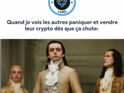 Quand je vois les autres paniquer et vendre leurs crypto dès que ça chute- crypto-label